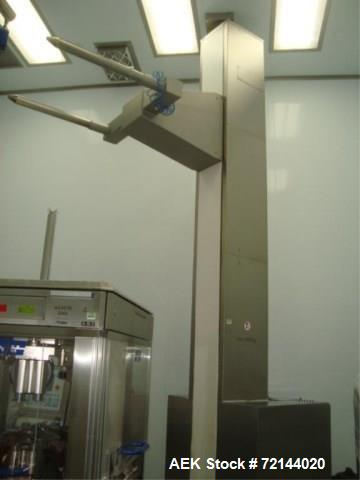 Used- L.B. Bohle Lifts HS-2000 Pharmaceutical Tote Lift Column. Stainless Steel Product Contact Surfaces, 2000 kg max. Load ...