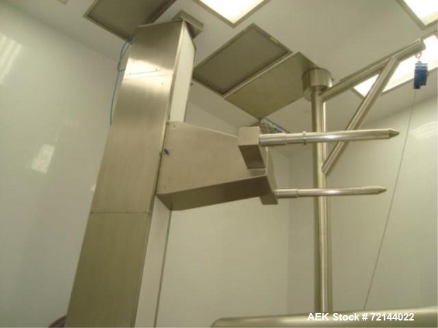 Used- L.B. Bohle Lifts HS2000 Pharmaceutical Tote Lift Column. Stainless Steel Product Contact Surfaces, 2000 kg max. Load C...