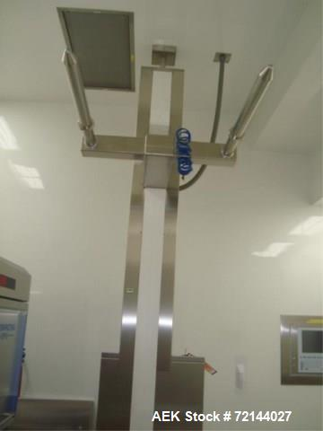 Used- L.B. Bohle Lifts HS-800 Pharmaceutical Tote Lift Column,  800 KG Max. Capacity, Stainless Steel Product Contact Surfac...