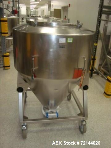 Used- L.B. Bohle Lifts MC-800 Mobile 800 Liter Capacity Stainless Steel Pharmaceutical Grade Tote. Asset# BR-FAM000404. HIT#...