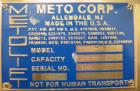 Used- Metolift Drum Lifter, Model M2510-10, Stainless Steel Construction.