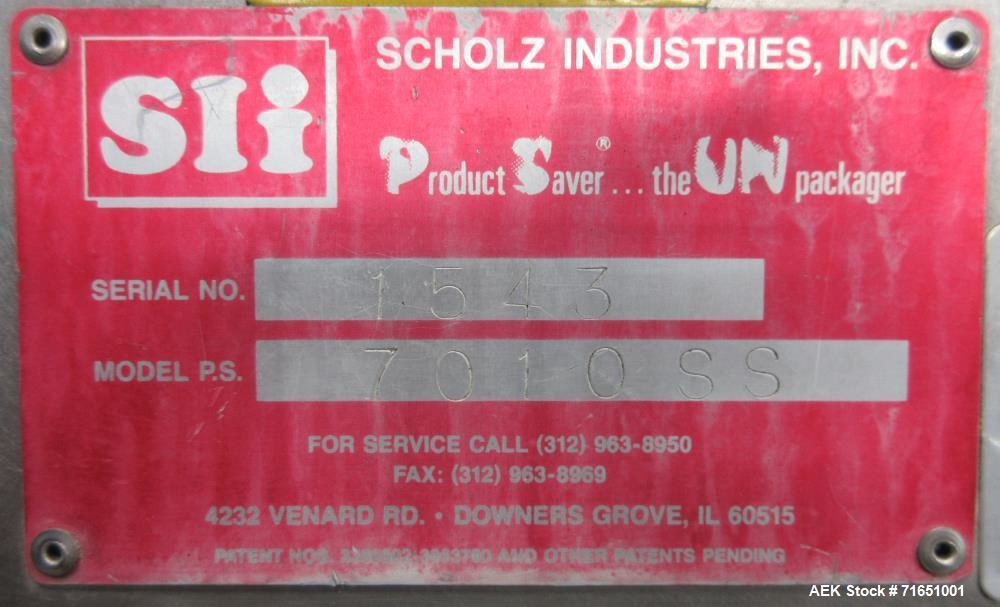 Used- Scholz Industries Model 7010SS Product Reclaimer