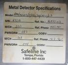 Used- Safeline Model VE-PW-100/300 Conveyor Mounted Metal Detector