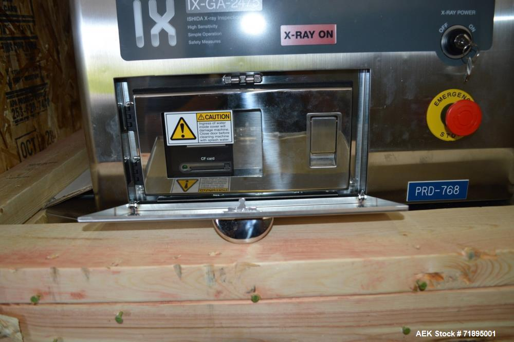 Used- Ishida X-Ray Inspection System, Model IXGA2475. Max X Ray Output 300 W. Speed 10 - 60 m/min. Conveying weight 2 kg ove...