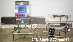 Used-Loma Model X5 X-Ray Metal Detection Inspection Unit with Overhead Pusher Re