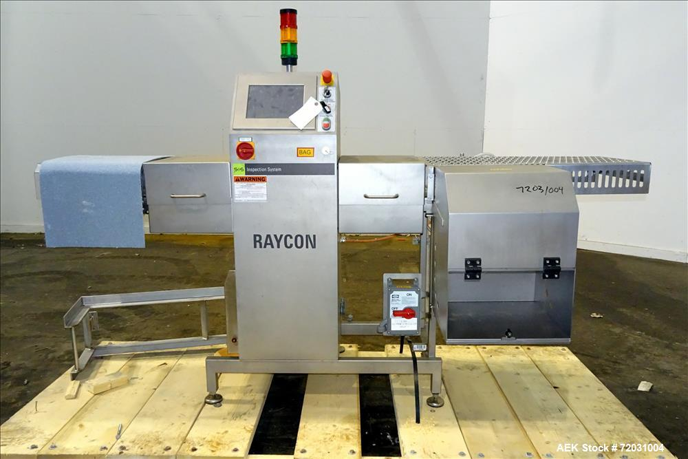Used-Sesotec Raycon X-Ray Food Inspection System, Type 350/150.  Serial # 11347015813-X.  Max Product Dimensions; 350 x 150 ...