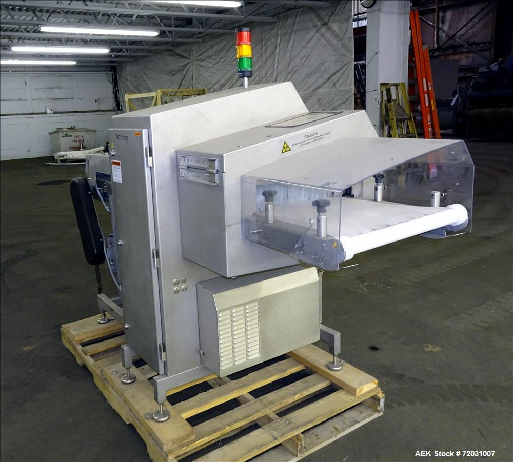 Used-Sesotec Raycon X-Ray Food Inspection System, Type 450/100 US-INT 50.  Serial # 11421018289-X.    Max Product Dimensions...