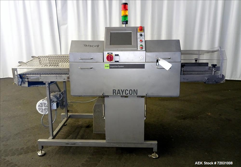 Used-Sesotec Raycon X-Ray Food Inspection System, Type 450/100 US-INT 50.  Serial # 11421018291-X.    Max Product Dimensions...
