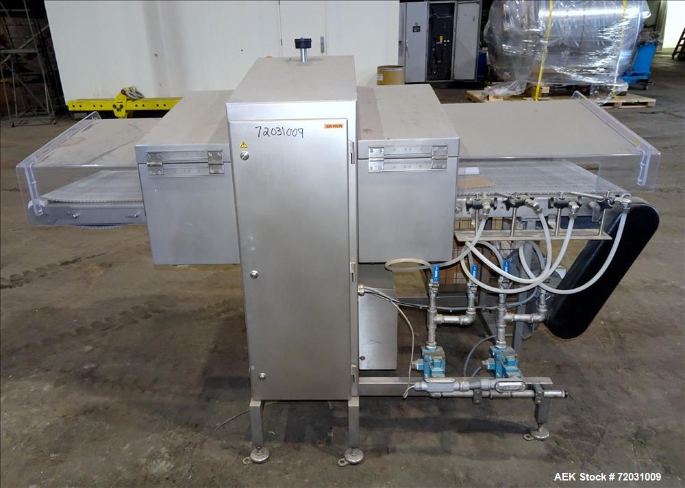 Used-Sesotec Raycon X-Ray Food Inspection System, Type 450/100 US-INT 50.  Serial # 11421018294-X.    Max Product Dimensions...