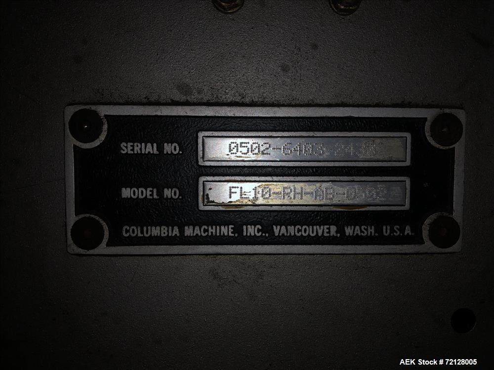 Used- Columbia Full Case Palletizer, Model FL-10.