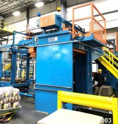Used- Lambert Material Handling 1200 Fully Automatic Bag Palletizer. Speeds up to 50 cases per minute based on layer pattern...
