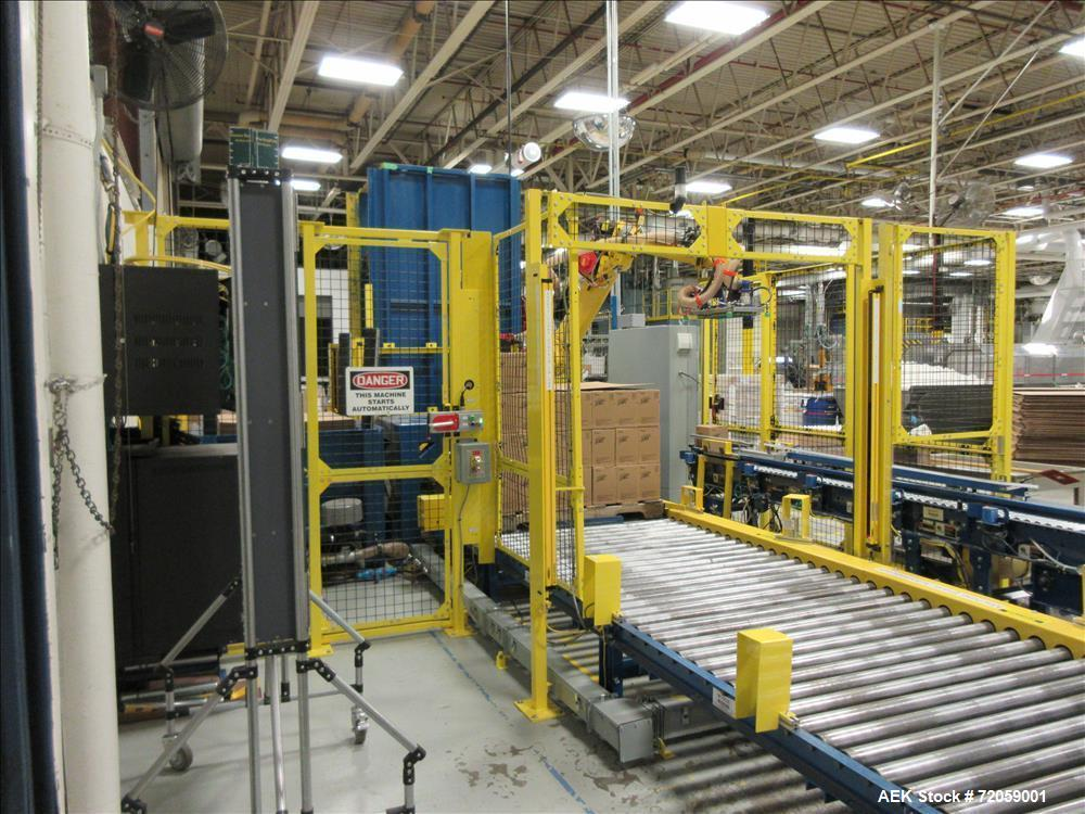 Used- APT Manufacturing Robotic Palletizing Cell with Fanuc Model R-1000 Robotic