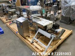 Used-Optel Pharmaproof Automated Vision Inspection System, Model OP300, S/N OP6281-02, with MK Tech Group flat belt conveyor...