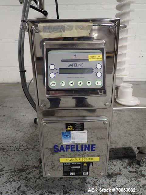 Used-Used Pharma Tech deduster metal check combination, model PTGV1000ST, stainless steel construction, with vertical rotati...