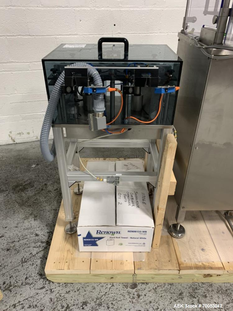 Used-Unused Seidenader inspection system, with (2) type V90-AVSB/60 Seidenader semi automatic inspection units, (1) L-R unit...