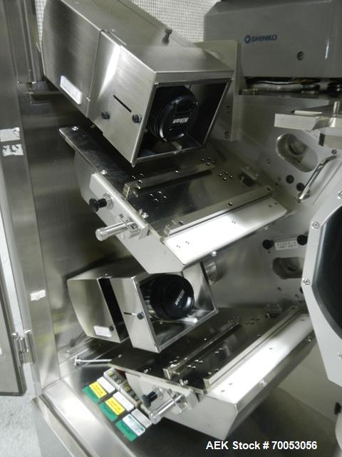 Used-Used GEA Daiichi Viswill tablet video inspection system, model TVIS-EX3, rated to speeds of 350,000 tablets/hr through ...