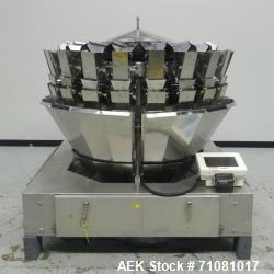 Used- Ishida Model CCW-DZ-220W-D/20-WP, 20 Head Computer Weigher