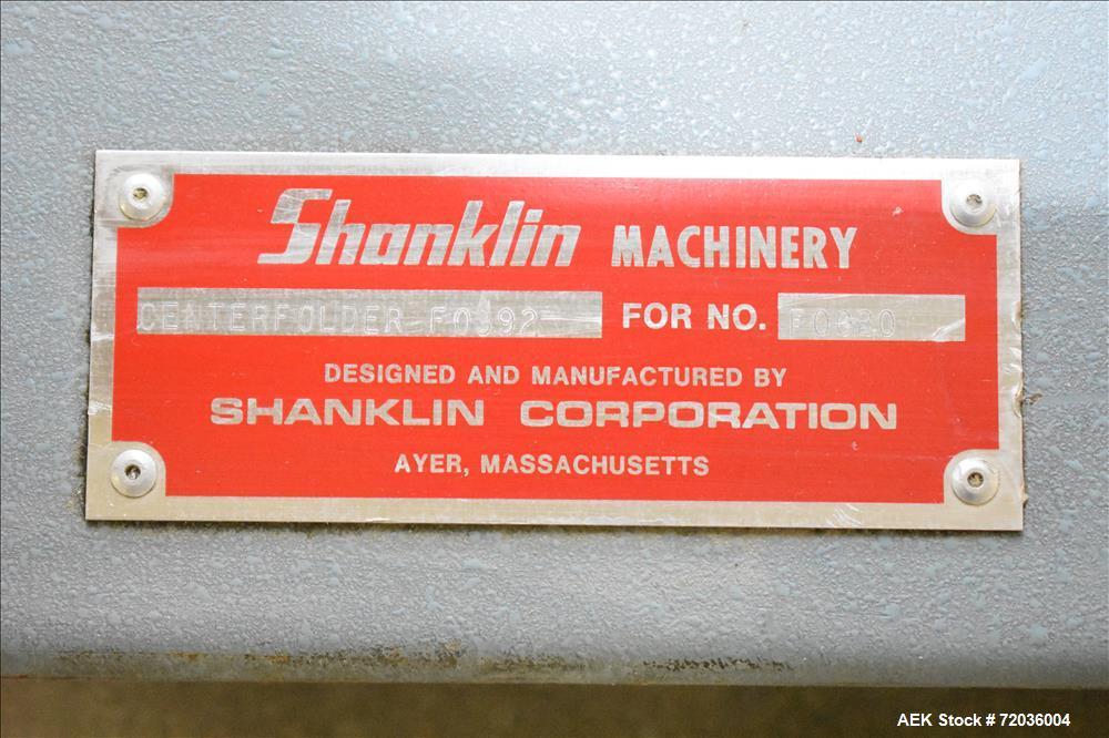 Used- Shanklin Model FO-392 Centerfolder