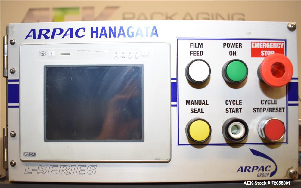 Used- Arpac Hanagata Model L-26 Automatic L-Bar Sealer. Includes Arpac Vision He