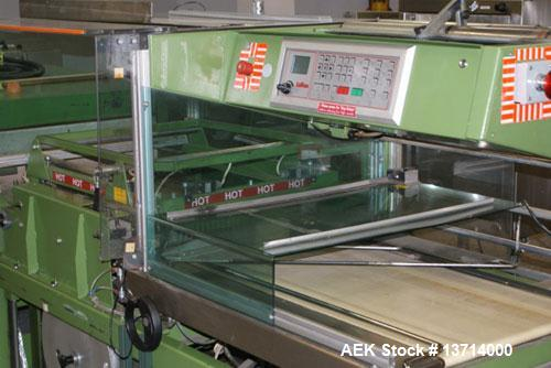 Used- Kallfass Universal 8060/100 is an automatic L-Bar sealer manufactured in Germany in 1993. It will handle packages up t...