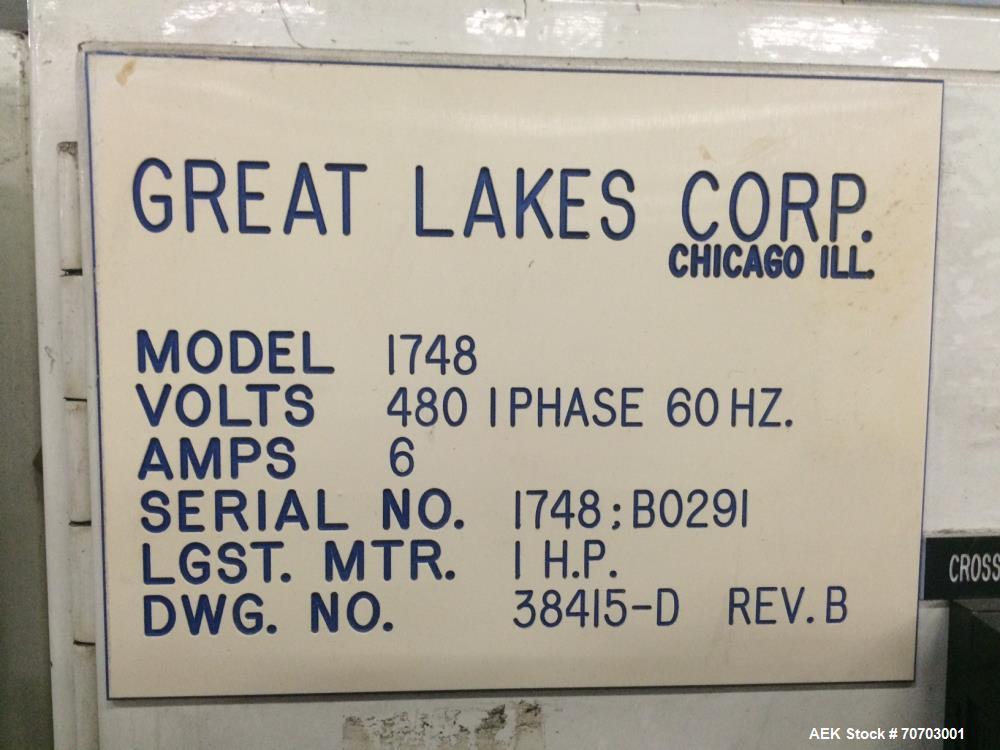 Used- Great Lakes Oversized Inline Shrink Bundler. Model 1748 Shrink Bundler wit