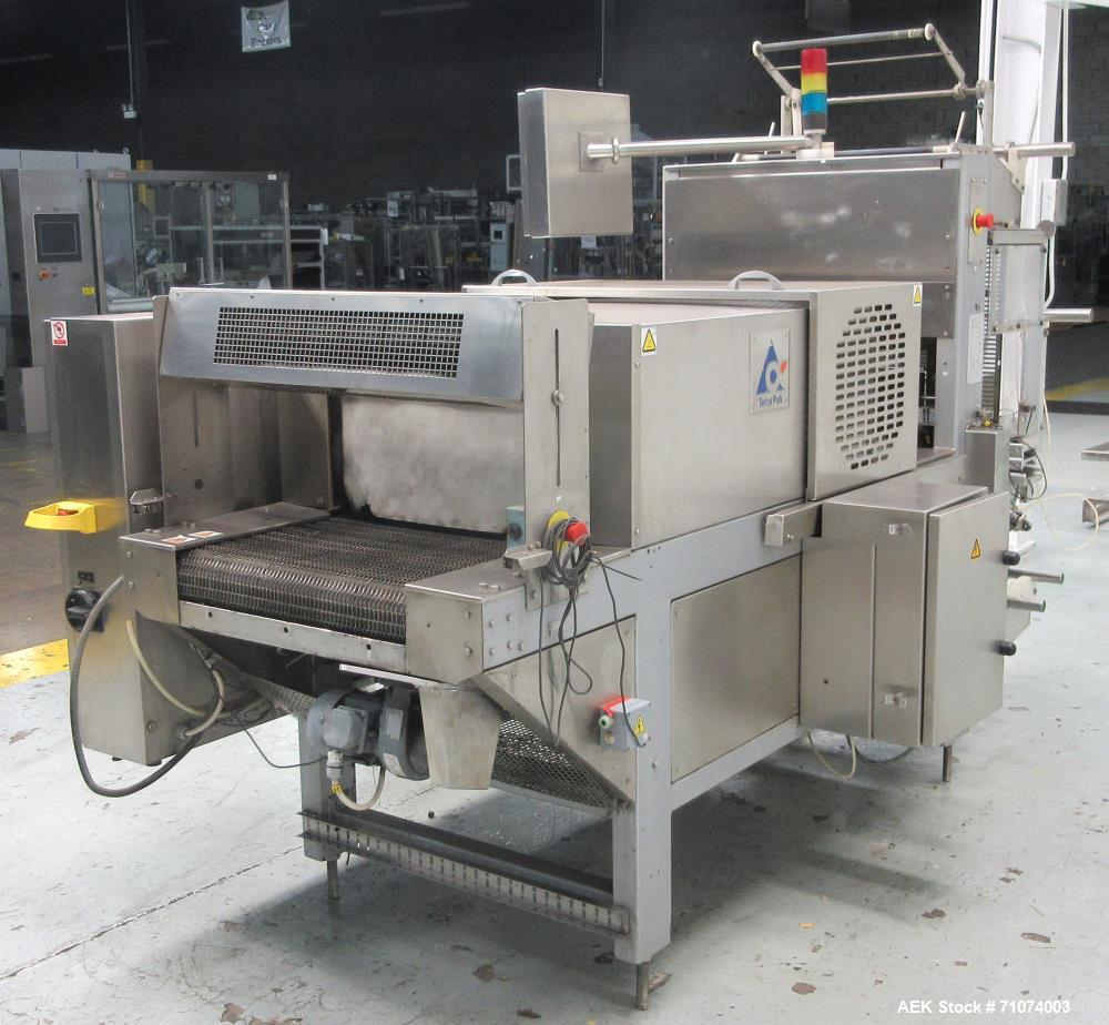 Used- Tetra Pak Model TTS 51 Tray Shrink Bundler