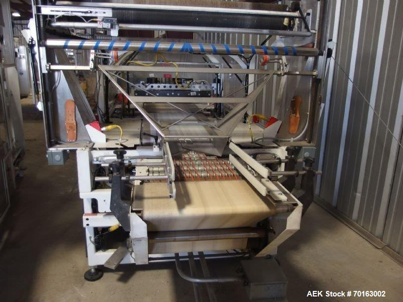 Used- Arpac Capro 8000 LS High Speed Flowwrapping System. 48 Inch wide film width. Continuous motion walking beam sealer. La...
