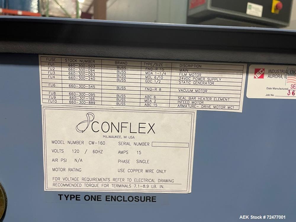 Used-Conflex Model CW-160 Horizontal Shrink Wrapper