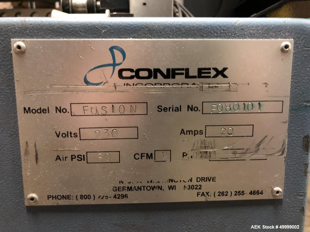 Used- Conflex Fusion Intermittent Motion Side Seal Shrink Wrapper
