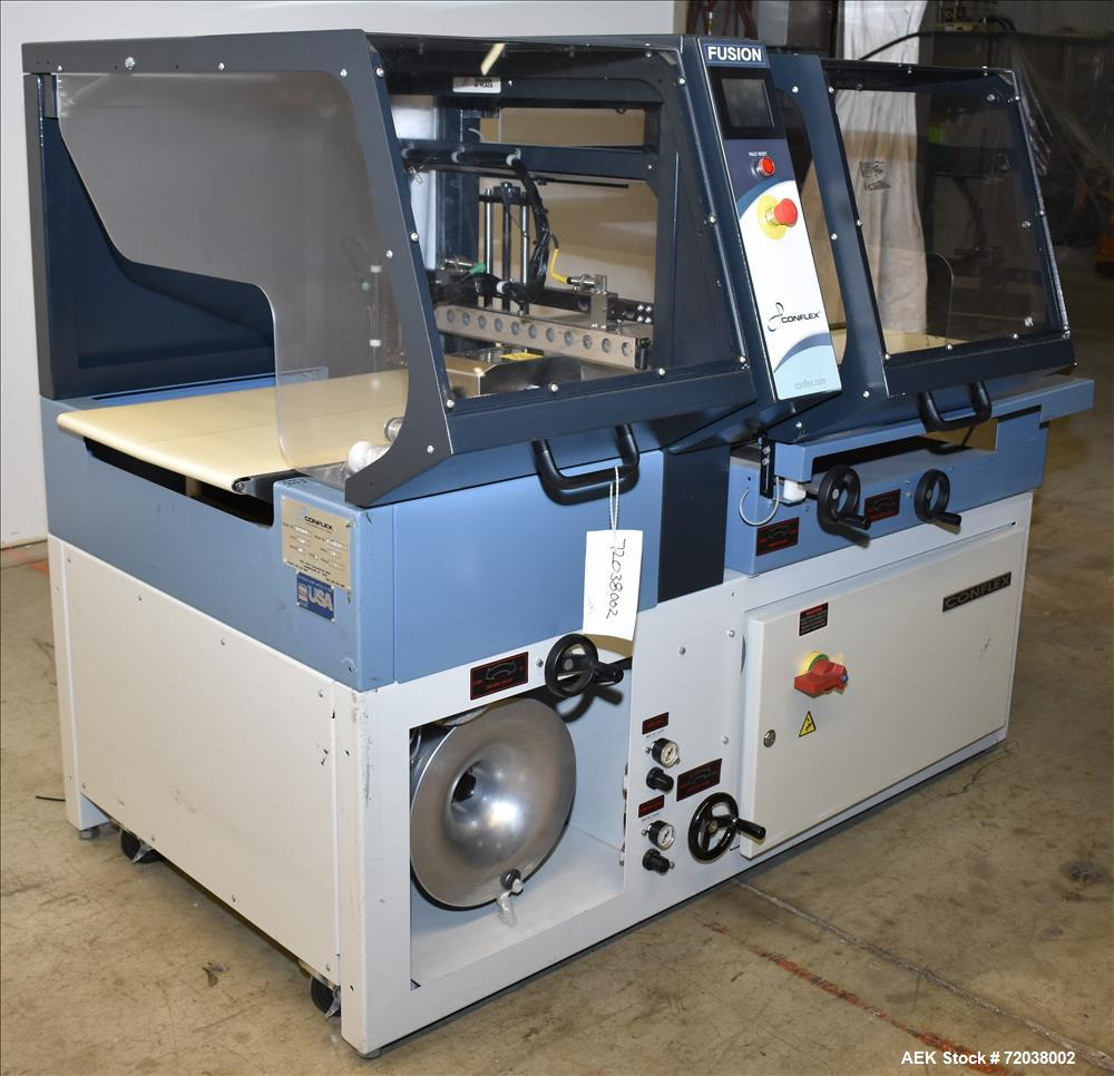 Used-Conflex Model Fusion Intermittent Motion Side Seal Shrink Wrapper.