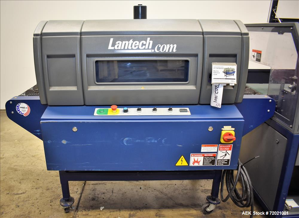 Used- Lantech Side Sealer and Shrink Tunnel, Model SW1000-ST700