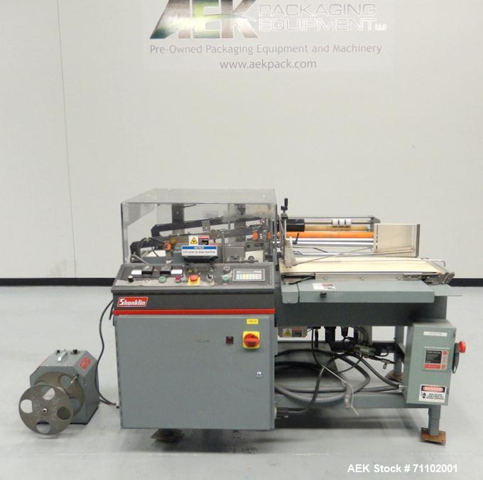 used shanklin model a 26a automatic l bar shrink rh aaronequipment com Shanklin L-Sealer Omni Shanklin Wrapper
