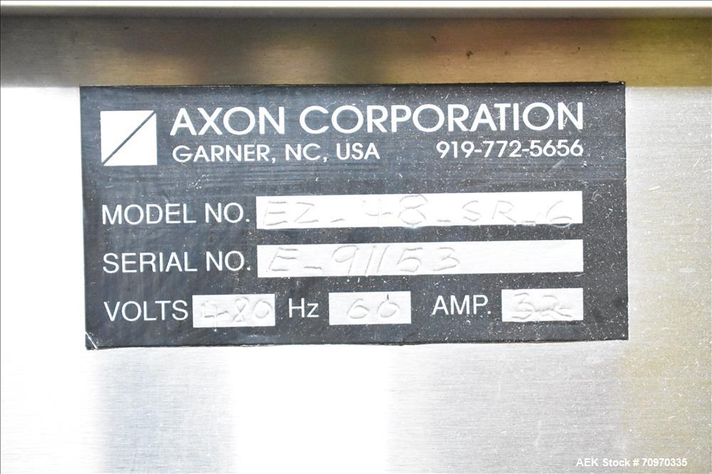 Axon Model EZ-48-SR-6 dual chamber neck band shrink tunnel
