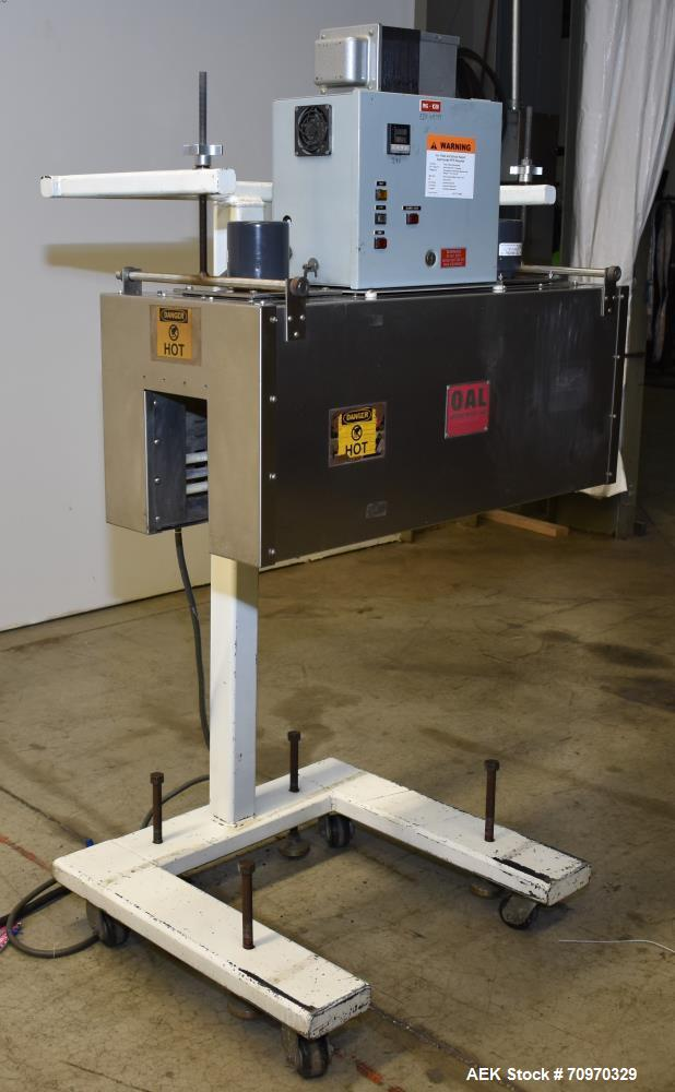 "Used- OAL Associates Recirculating Heat Shrink Tunnel, Model FIRO/R-6/9/36-6L. Opening measures 6""W x 9""H x 36""L. 12 kW. Mou..."