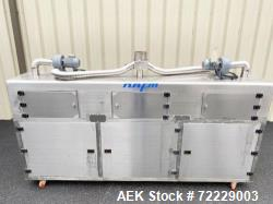 Used-NAFM Stainless Steel Steam Heat Tunnel for Shrink Sleeves - Model Number WSN-300 - 3 Tier System for Steam Control - St...