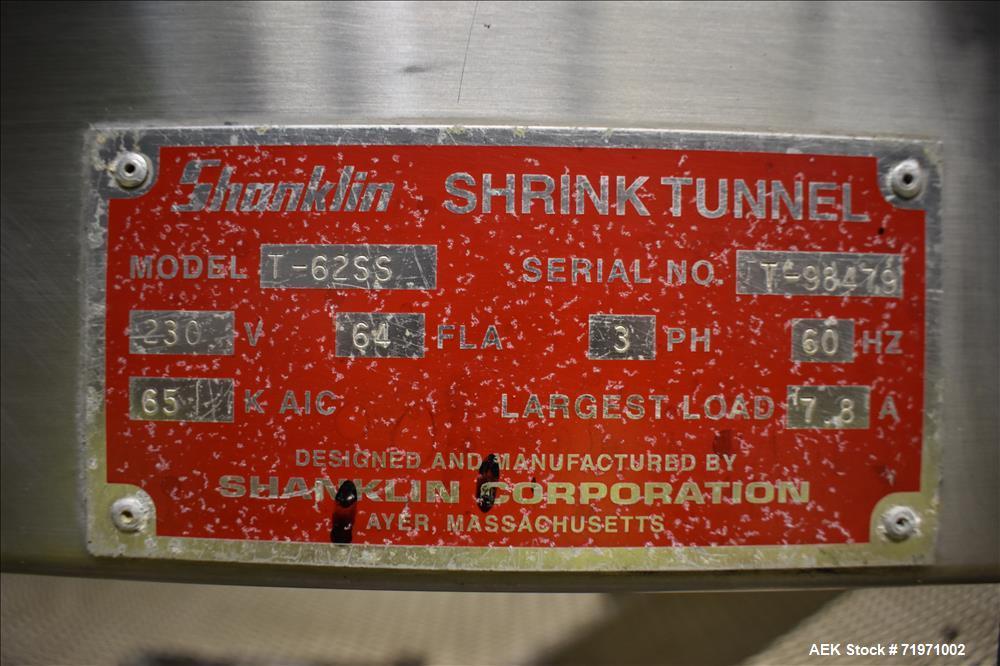 Shanklin Shrink Tunnel, Model T-62SS