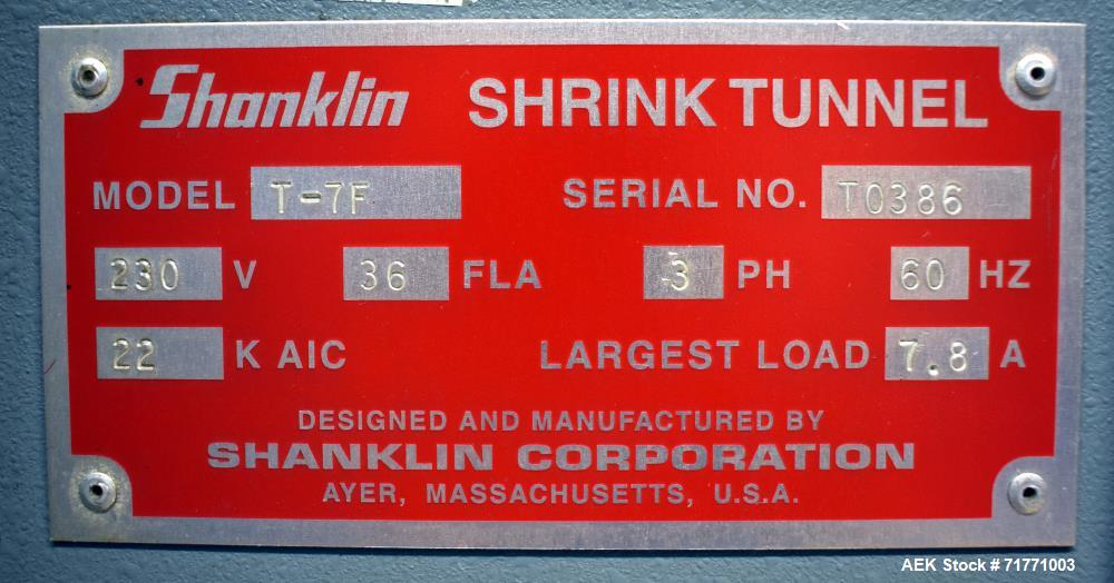 Used- Shanklin Model T-7F Shrink Tunnel