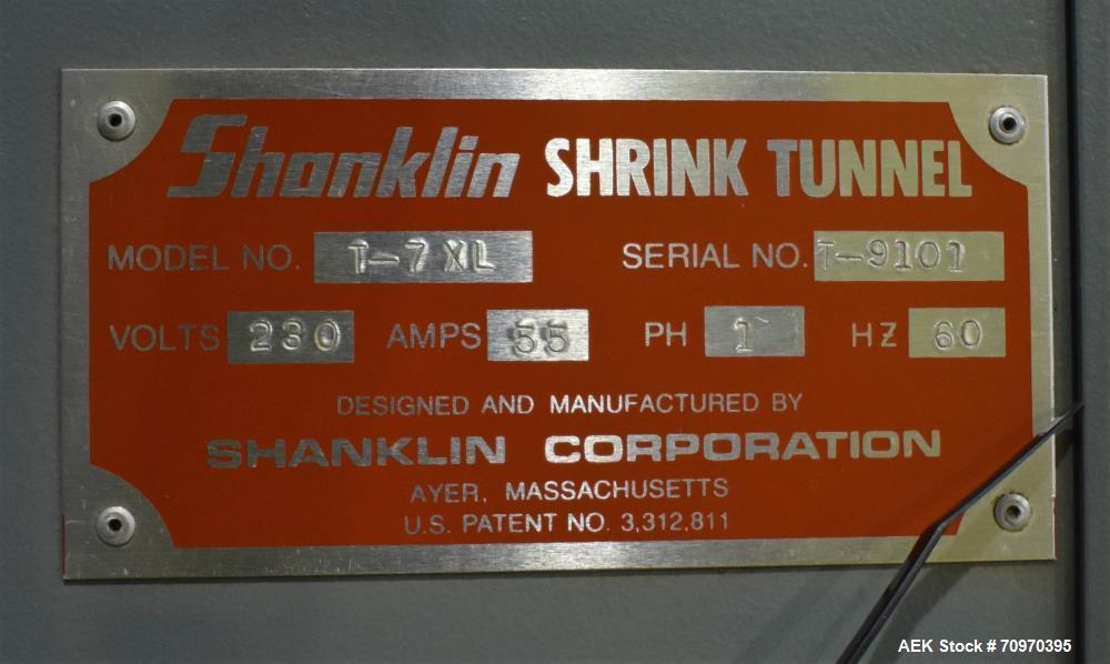 Shanklin T-7XL Shrink Tunnel