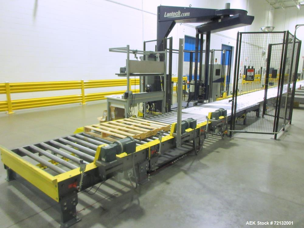 Used- Lantech Floor-Mounted Orbital Automatic Stretch Wrapper, Model 51500,