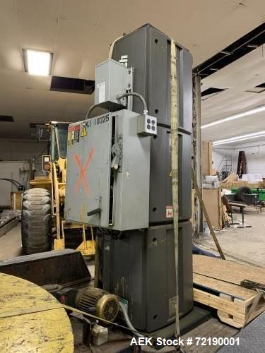 Used- Lantech Model Q-300 Semi-Automatic Stretch Wrapper