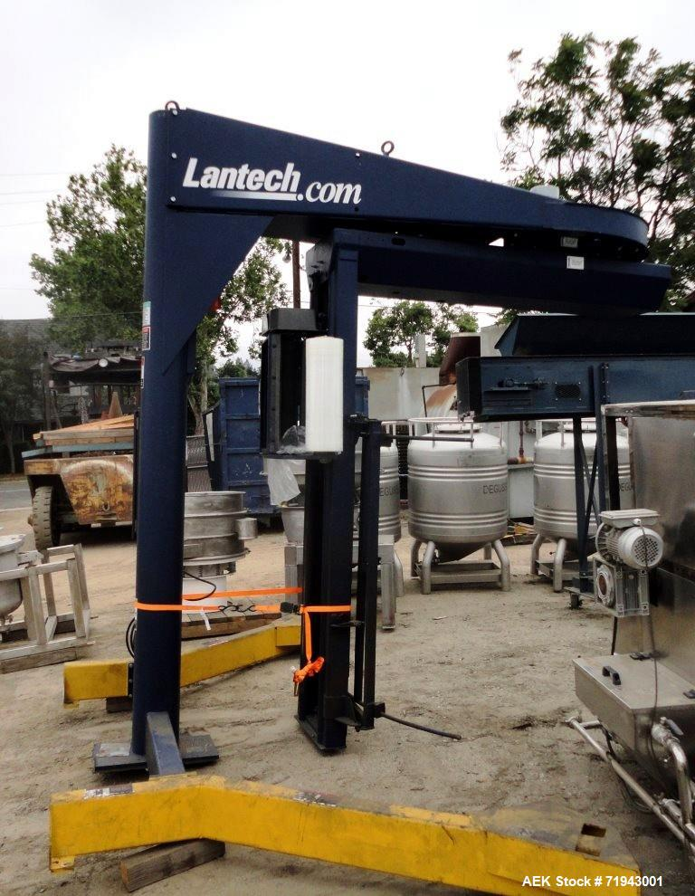 Used- Lantech Semi-Automatic Stretch Wrapper. Model S-300
