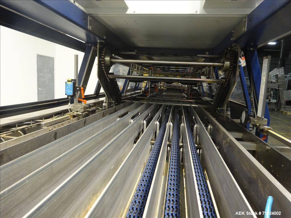 Used- Krones Model Variopac Registered Film Tray Pack Shrink Bundling System