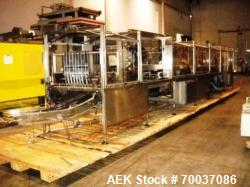 Used- Standard Knapp, Model 296P, Continuous Tray Packer and Shrink Wrapper. Stainless steel side rails, capable of speeds o...