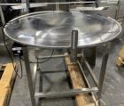 Used- Anderson Machine Works Stainless Steel Rotary Accumulation Table