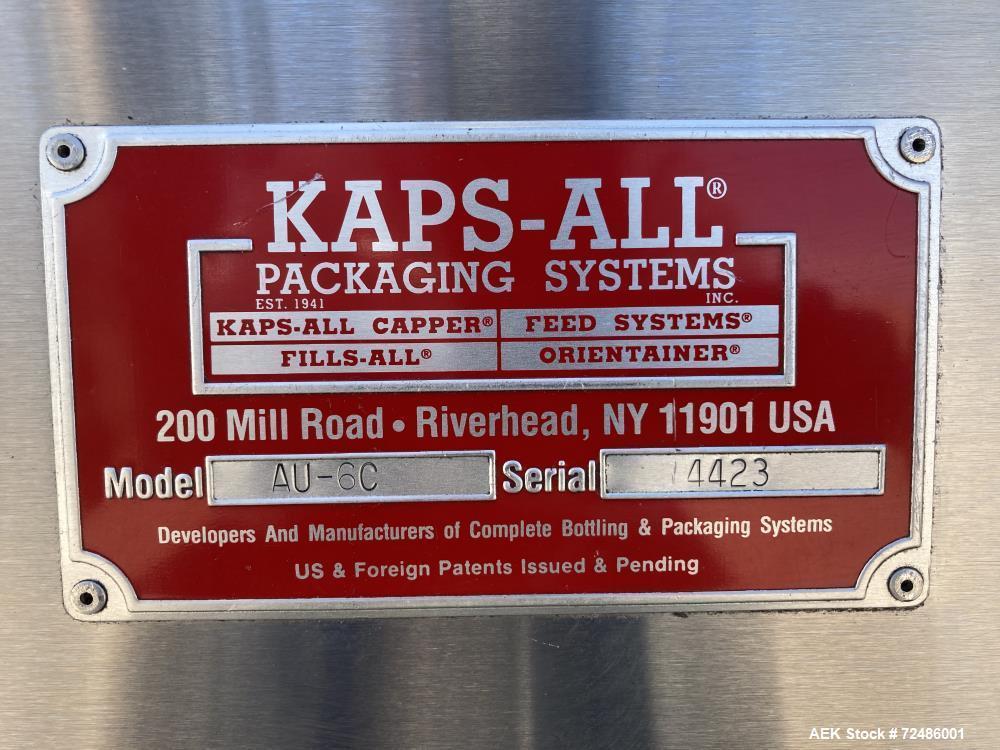 Used-Kaps All Model AU-6C Automatic Bulk Bottle Unscrambler