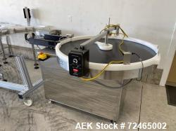"""Accumulation Table, Approximate 48"""" Diameter. Approximate 11"""" wide infeed. Includes Dayton speed co..."""