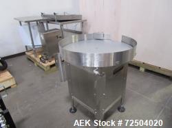 "Garvery 36"" Diam stainless steel accumulation table."