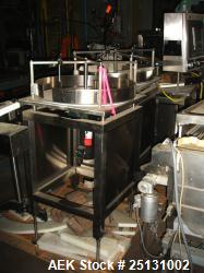"Used- Stainless Steel Accumulating Table, 24"" Diameter"