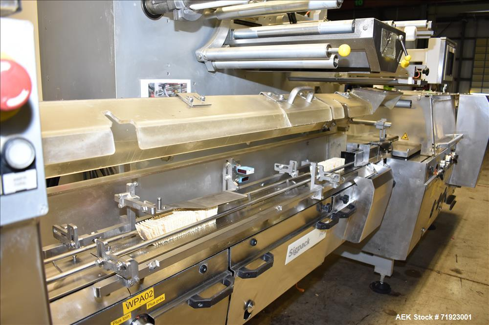 Used- Bosch Sigpack High-Speed Horizontal Flow Wrapper, Model HCS and FGM