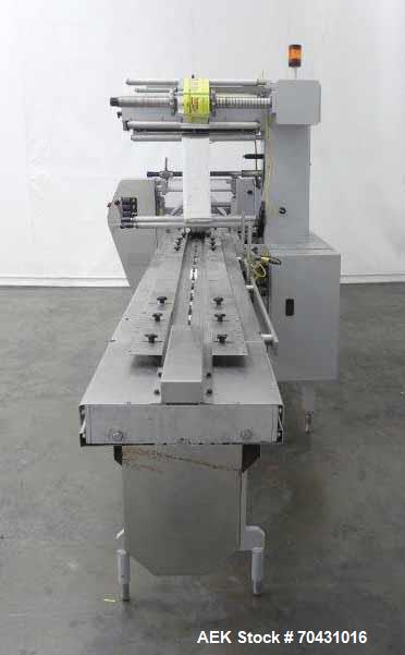 Used- Doboy 301 Linium Horizontal Flow Wrapper with, capable of speeds up to 150 packages per minute. (2) up end seal. Produ...